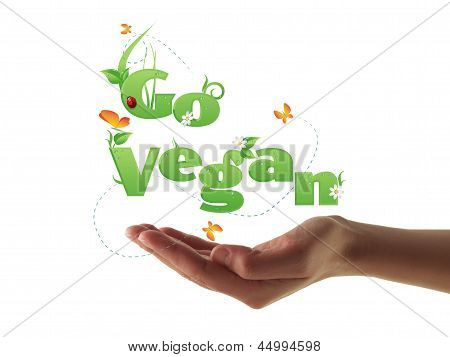 Go Vegan Text