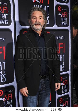 LOS ANGELES - APR 24:  Kurt Russell arrives to the AFI Night At The Movies 2013  on April 24, 2013 in Hollywood, CA