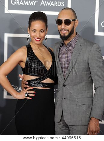 LOS ANGELES - FEB 10:  Alicia Keys & Swizz Beatz arrives to the Grammy Awards 2013  on February 10, 2013 in Los Angeles, CA.
