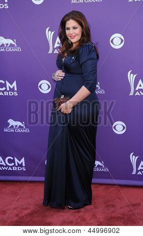LAS VEGAS - APR 07:  Hillary Scott (Lady Antebellum) arrives to the Academy of Country Music Awards 2013  on April 07, 2013 in Las Vegas, NV.