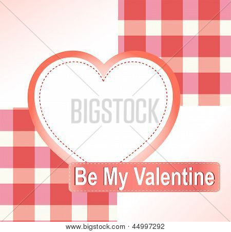Valentine's Background With Hearts And Place For Text. Vector