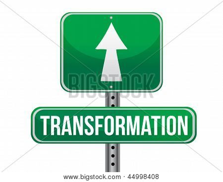 Transformation Road Sign Illustration Design