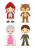 picture of little red riding hood  - little red hood characters from tale - JPG