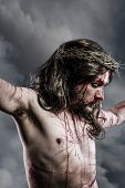 foto of sacred heart jesus  - representation of the Passion of Jesus Christ - JPG