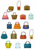 picture of sling bag  - Illustration of of the different designs of bags on a white background - JPG