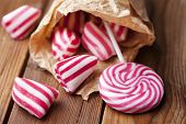 picture of peppermint  - traditional striped peppermint rock candy - JPG