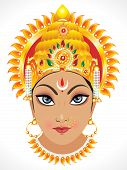 foto of navratri  - abstract artistic goddess durga face vector illustration - JPG
