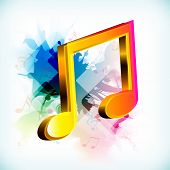 image of g clef  - Abstract musical note - JPG