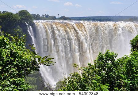 Victoria Falls at full flow rate