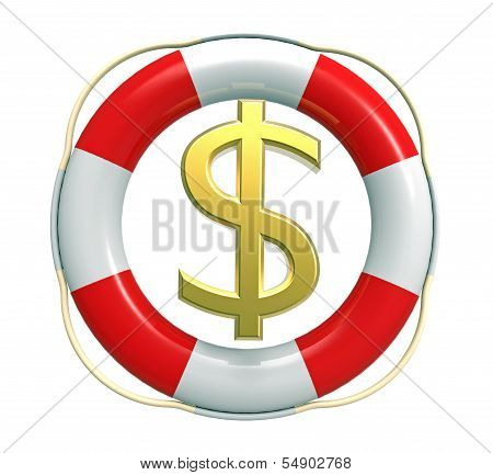 Lifebuoy With Dollar Sign