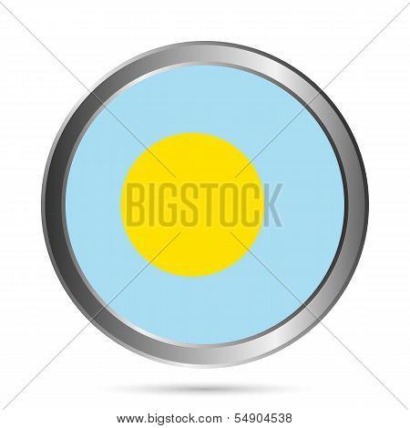 Palau Flag Button.