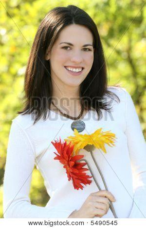 Beautiful Woman Summer Portrait