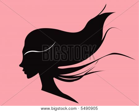 Woman With Curly Black Hair
