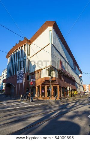 Facade Of The Museum Of Modern Art In Frankfurt