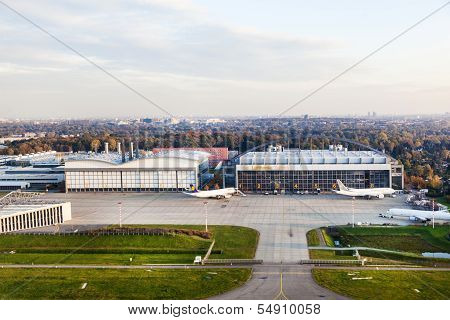 Aircraft Hangar In Hamburg