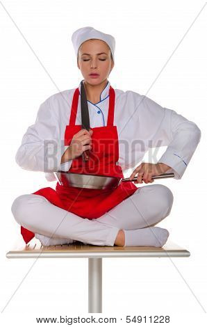 The Meditator Cook With Dishes