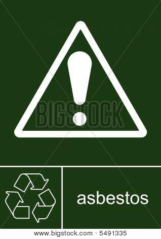 Sign asbestos