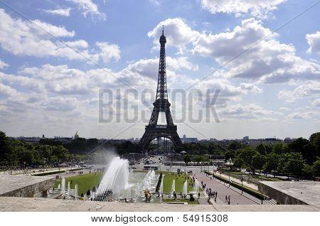 Paris-august 14-Paris Eiffel Tower
