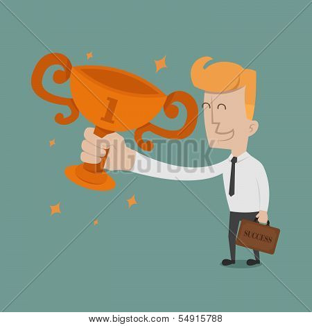 Businessman the winner