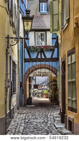 Hidden Terrace In Colmar