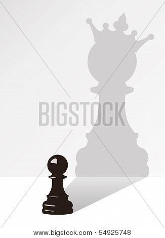 Vector Chess Pawn With The Shadow