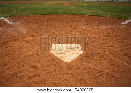 View of a Baseball Field from Home Plate