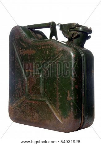 Canister On White Background