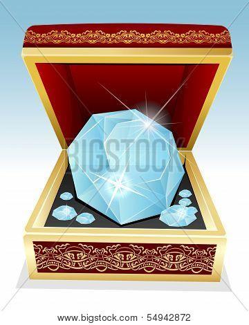Big Brilliant Diamond In Gift Box