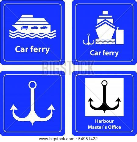 Sea Harbour Signs