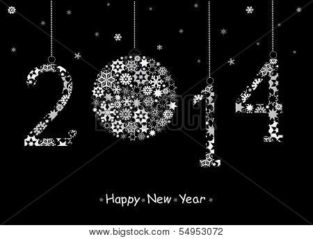 2014  Happy New Year Greeting Card.