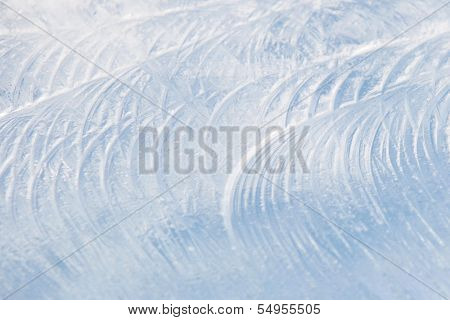 Ice With Frosty Patterns