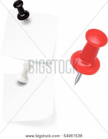 Vector pushpins