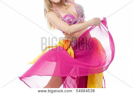 Young Belly Dancer Performing