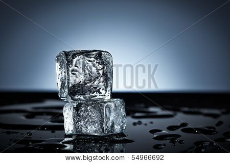 Two Stacked Ice Cubes