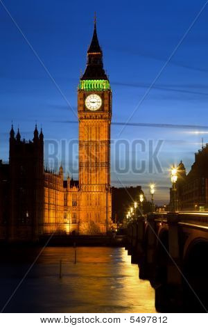 Big Ben in London at night UK 2009