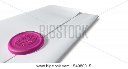 Paper Sealed With A Kiss Pink Wax Seal