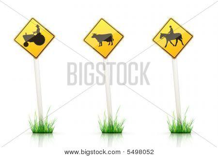 Verkehrszeichen Warnung