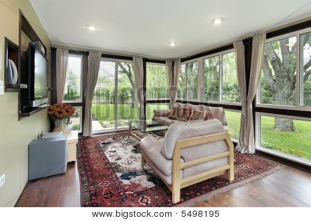 Sunroom With Outside View