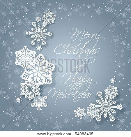 Christmas greeting card - Snowflakes