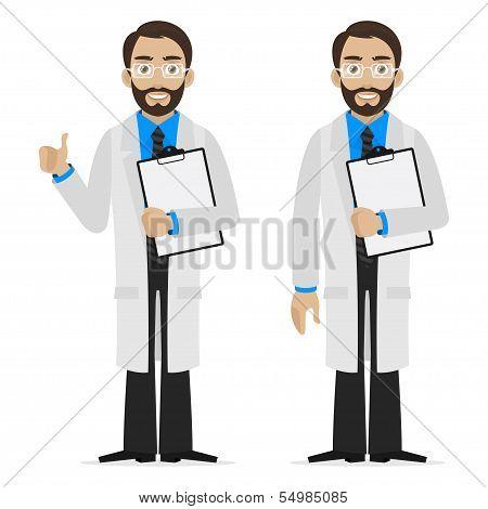 Scientist holds file