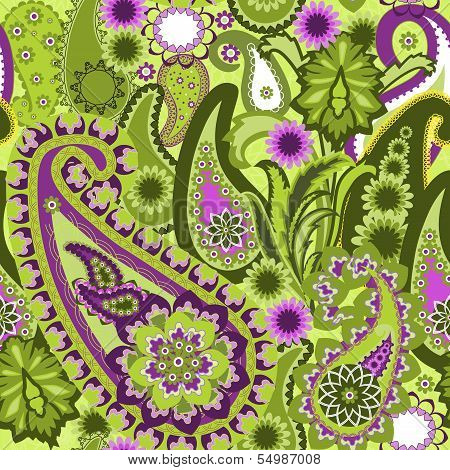 Paisley colorful background.