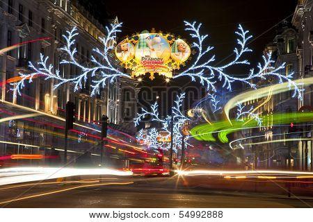 London Christmas Lights On Regent Street