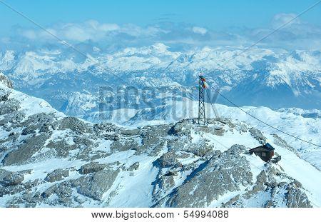 Winter Dachstein Mountain Massif