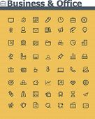 stock photo of glyphs  - Business and office  icon set - JPG