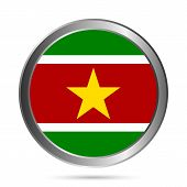 Suriname Flag Button.