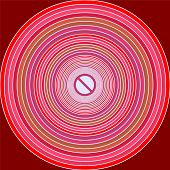 picture of hypnotizing  - Hypnotic and phsycadelic circles shape pattern background - JPG