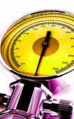 picture of sphygmomanometer  - Digital illustration of sphygmomanometer in colour background - JPG