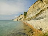 Limestone Cliff In Corfu, Greece