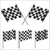Checkered Flags (racing). Vector