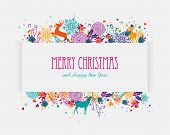 Merry Christmas Colorful Banner